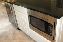 After : Island Microwave And Wine Refrigerator